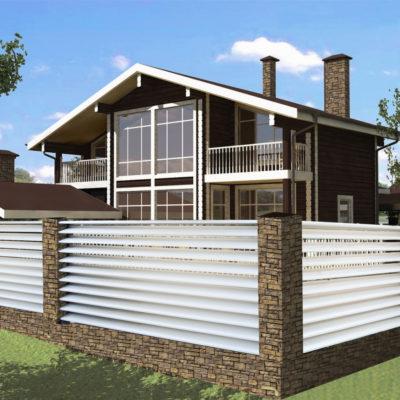 Забор-Жалюзи для загородного комплекса отдыха